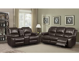 Alice Collection 3 Piece Leather Air Reclining Sofa Set in Chocolate K-550