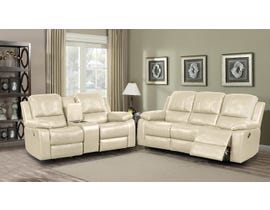 Kwality Furniture Alice Collection 3 Piece Leather Air Reclining Sofa Set in Taupe