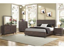 Amalfi Furniture Retro Series 6PC King Bedroom Set in Light Walnut SB811A