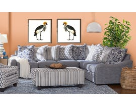 Flair Furniture Fabric RHF Sectional in Tangier Navy 6092