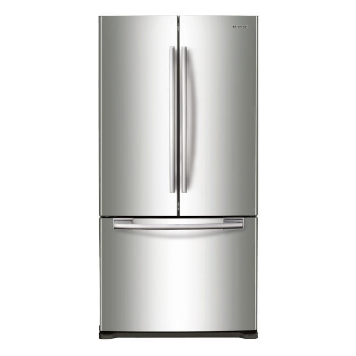 Samsung 33 inch 17.5 cu. ft. French Door Refrigerator with Twin Cooling Plus in stainless steel RF18HFENBSR
