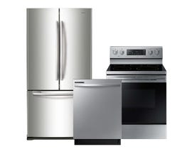Samsung 3pc Appliance Package in Stainless Steel RF18HFENBSR DW80R2031US NE59R4321SS