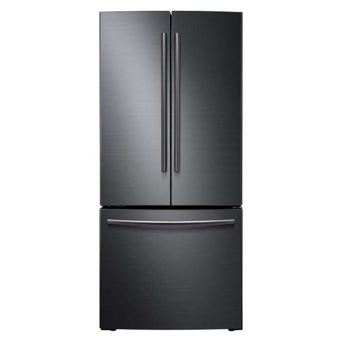 Samsung 30 inch 21.6 cu.ft. French Door Refrigerator with Digital Inverter Compressor in Black Stainless RF220NCTASG
