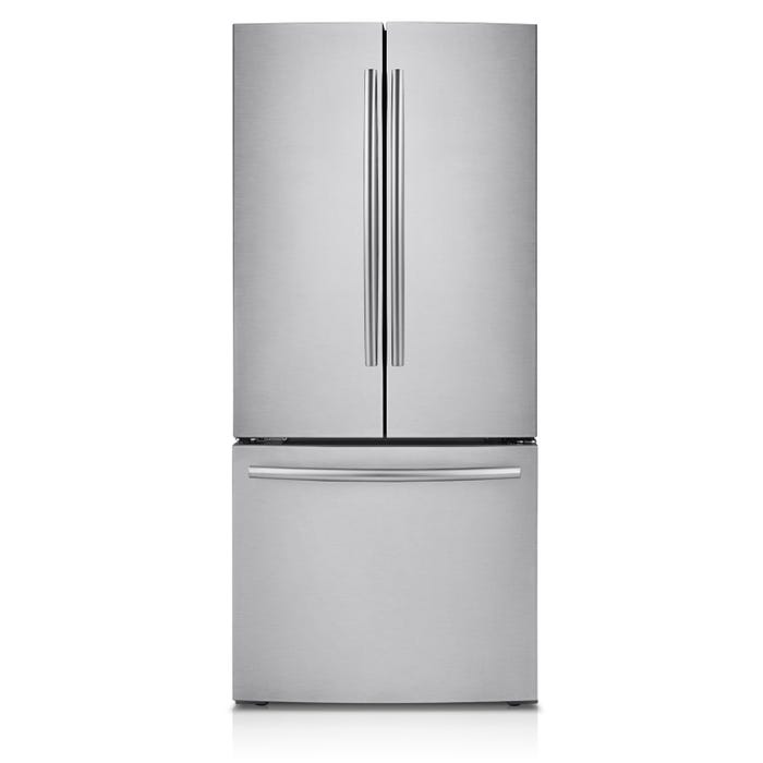 Samsung 30 inch 21.6 cu. ft. French Door Refrigerator with Digital Inverter Technology in stainless steel RF220NCTASR