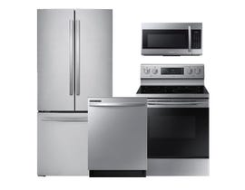 Samsung 3pc Appliance Package in Stainless Steel RF220NFTAS NE59M4320SS DW80R2031US