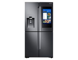 Samsung Family Hub 4-Door with Family Hub 36 Inch 22 Cu. Ft. in Black Stainless Steel RF22M9581SG