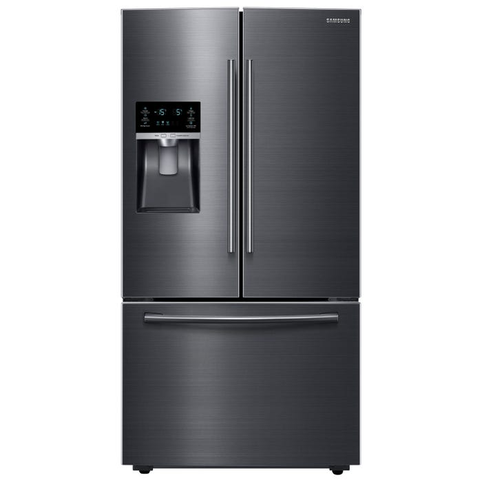 Samsung 36 inch 22.5 cu. ft. French Door Refrigerator with Twin Cooling Plus in black stainless steel RF23HCEDBSG