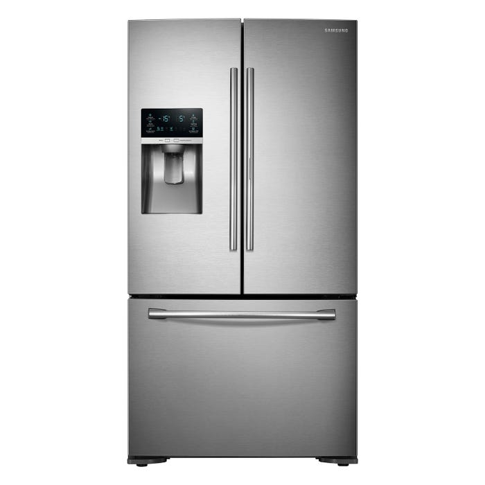 Samsung 36 inch 22.5 cu. ft. French Door Refrigerator with Food Showcase in stainless steel RF23HTEDBSR