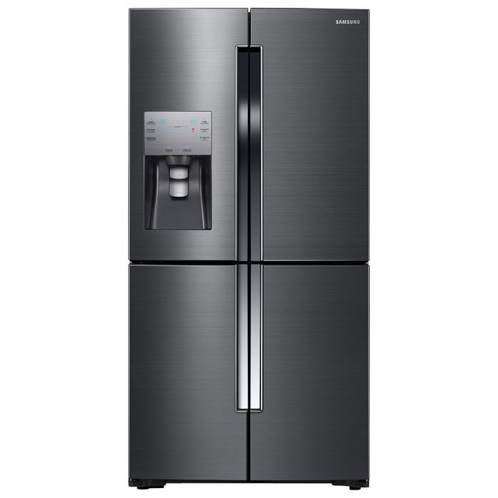 Samsung 36 inch 22 5 cu  ft  4-Door Refrigerator Flex with Triple Cooling  system in Black Stainless RF23J9011SG