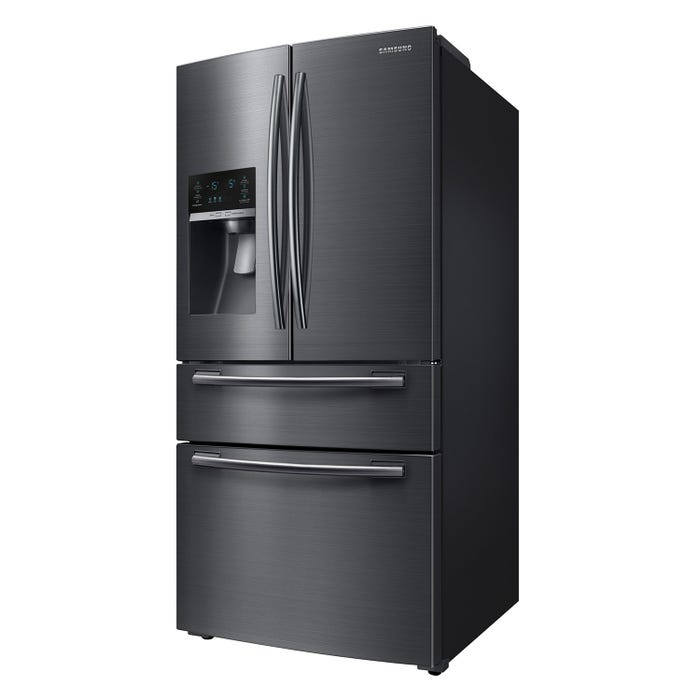 Samsung 33 inch 24.7 cu. ft. French Door Refrigerator with Twin Cooling Plus in Black Stainless RF25HMEDBSG