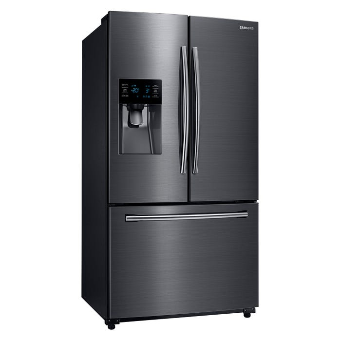 Samsung 36 inch 24.6 cu. ft. French Door Refrigerator with Twin Cooling Plus in black stainless RF263BEAESG
