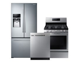 Samsung 3pc Appliance Package in Stainless Steel RF26J7510SR DW80N3030US NX58T5601SS