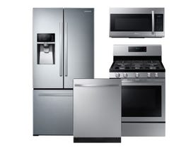 Samsung 3pc Appliance Package in Stainless Steel RF26J7510SR NX58T5601SS DW80R5061US