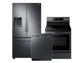 Samsung 3pc Appliance Package in Black Stainless Steel RF27T5201SG DW80K5050UG NE59R6631SG