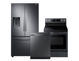 Samsung 3pc Appliance Package in Black Stainless Steel RF27T5201SG DW80R5061UG NE59R6631SG