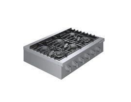 Bosch 36 Inch 6 Burner Gas Rangetop in stainless steel RGM8658UC