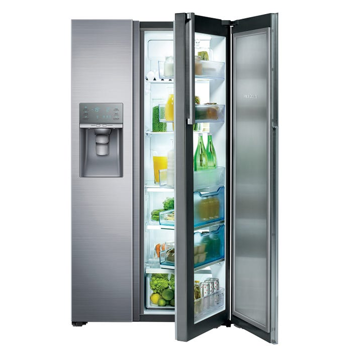 Samsung 36 inch 21.5 cu.ft. Side-by-Side Refrigerator with Food Showcase in stainless steel RH22H9010SR