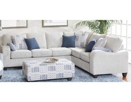 Flaca Chenille Fabric LHF Sectional in Light Grey