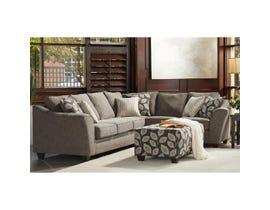 Flair RHF Fabric Sofa Sectional in Paradigm Smoke 1010