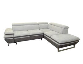 Primo International Ricci Collection 2 Piece Fabric Sectional  in Cream/Earth N3173