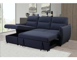 Kwality Liam Series 2pc Fabric Sectional in Navy 4016
