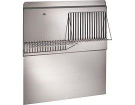 """Broan 30"""" Range Hood Backsplash with Shelves in Stainless Steel RMP3004"""