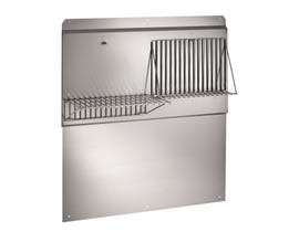 """Broan 48"""" Range Hood Backsplash with shelves in Stainless Steel RMP4804"""