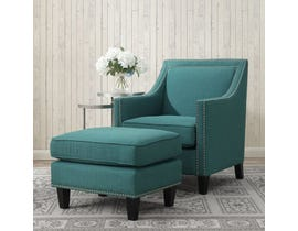 High Society Erica Series Chair w/Ottoman in Teal