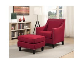 High Society Erica Series Chair w/Ottoman in Berry