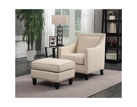 High Society Erica Series Chair w/Ottoman in Natural