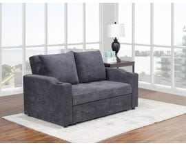 Brassex Fresno Sofa with Pull-Out Bed & Adjustable Back in Grey S-2816-1