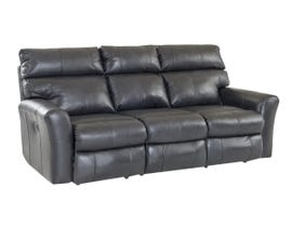 Klaussner Xavier Series Leather Reclining Sofa in Black 48403