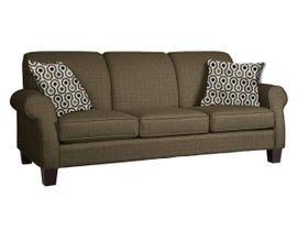 Décor-Rest Joey Sky Collection Fabric Sofa in Balance Espresso/Pollo Navy 2025