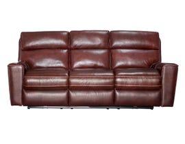 PR Furniture Archie Leather Reclining Power Motion Sofa in Milton Auburn