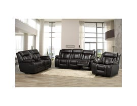 Brassex Hudson Reclining Loveseat with Console in chocolate brown SA1011-L-CH