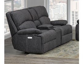 Brassex Houston Collection Fabric Reclining Loveseat in Grey SA2200