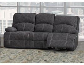 Brassex Houston Collection Fabric Reclining Sofa in Grey SA2200