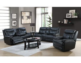 Brassex 3-Piece Power Reclining Sofa set in Black SA2600