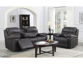 Brassex Beckley Recliner Series Leather Look 3Pc Sofa Set in Espresso SA3000