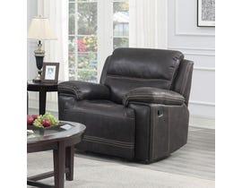 Brassex Beckley Recliner Series Leather Look Recliner in Espresso SA3000