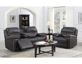 Brassex Beckley Recliner Series Leather Look Loveseat in Espresso SA3000