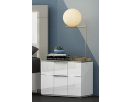 K Living Harvey Series Nightstand in Grey and White SB114-NS