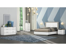 K Living Harvey Series Queen Bedroom Set in Grey and White SB114-QBS-SET