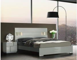 Latina Series Platform Bed w/LED Lighting in Grey Lacquer SB185