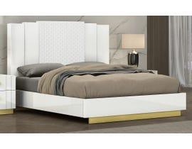K Living Tanner Series King Bed in White SB804-KB