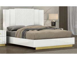 K Living Tanner Series Bed in White SB804