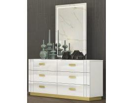 K Living Tanner Series Dresser and Mirror in White SB804-DRMR