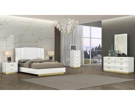 K Living Tanner Series King Bedroom Set in White SB804-KBS-SET