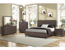 Retro Series Bedroom Set in Light Walnut SB811A