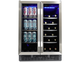 "Silhouette Emmental Series 24"" French Door Beverage Center in Stainless Steel SBC051D1BSS"
